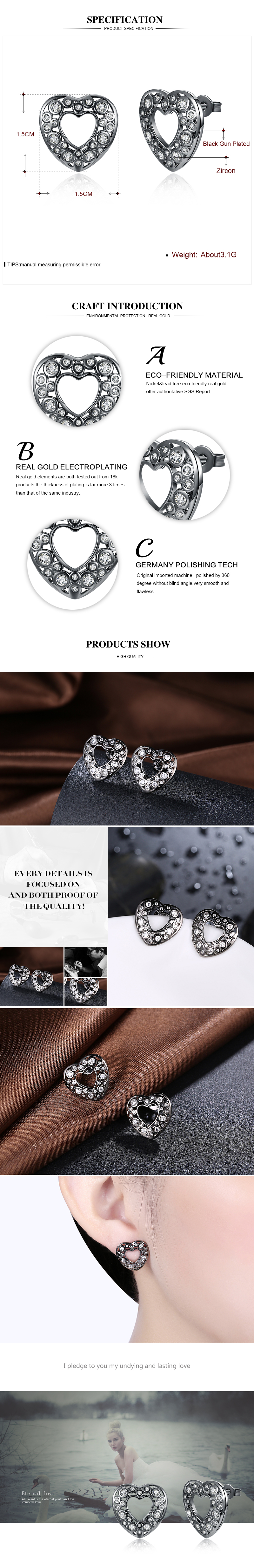 Stud Earrings NHKL12087