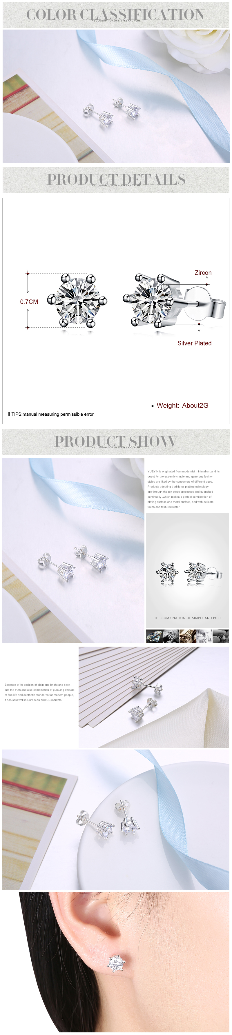 Stud Earrings NHKL12277