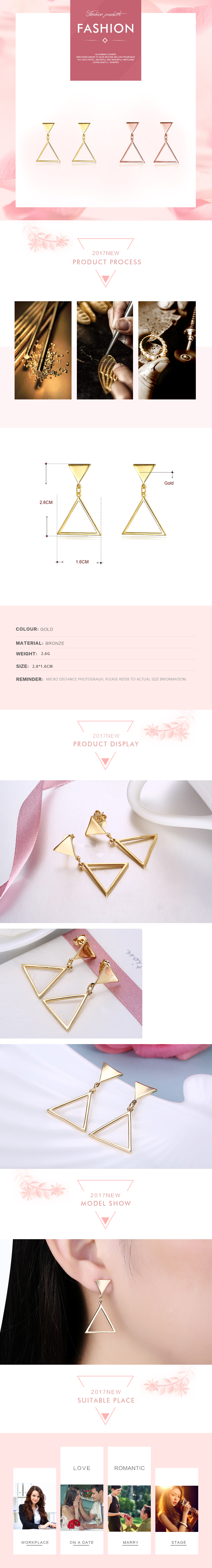 Stud Earrings NHKL12175-A