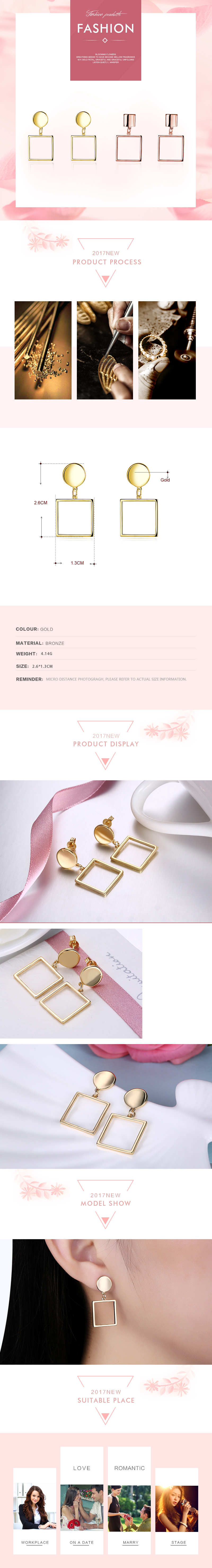 Stud Earrings NHKL12176-B