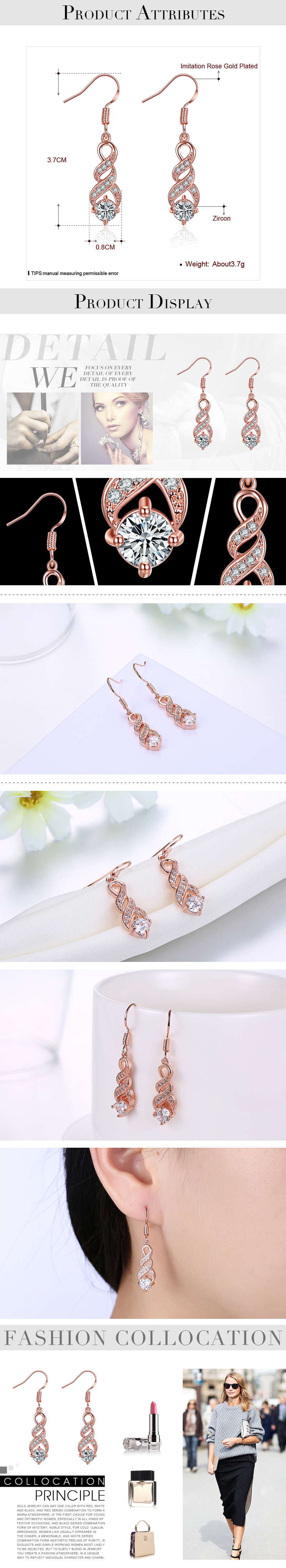Dangle Earrings NHKL12306
