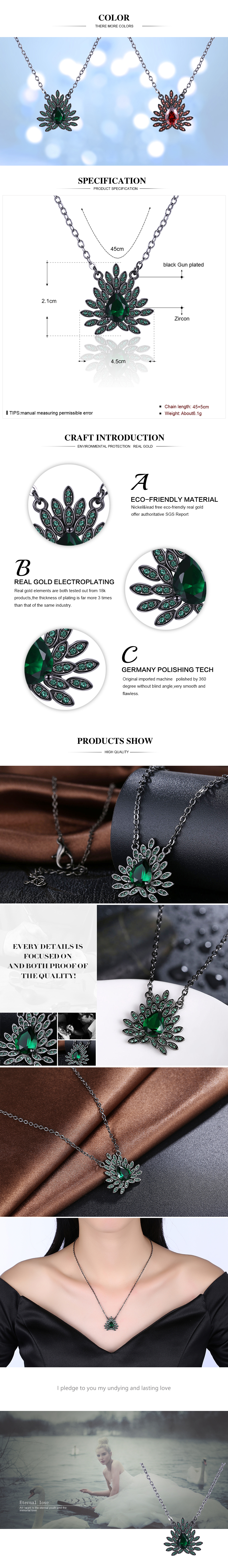 Black Gun Plated Necklaces NHKL12338-B