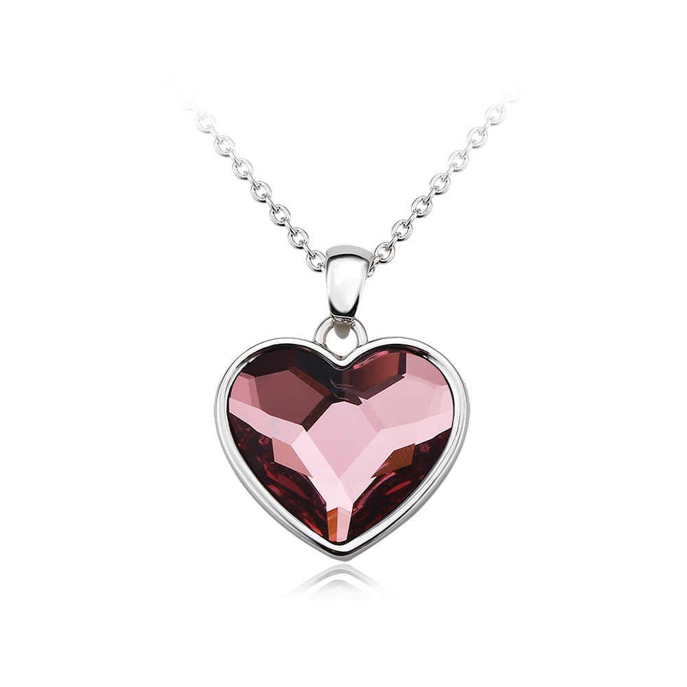 hot sell fashion trend ear nail heart zircon female platinum necklace  59780