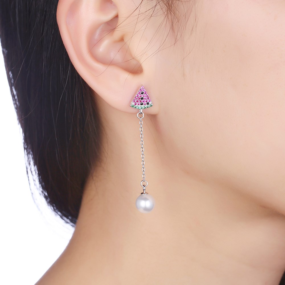 Platinum Plated  Dangle Earrings NHKL12747