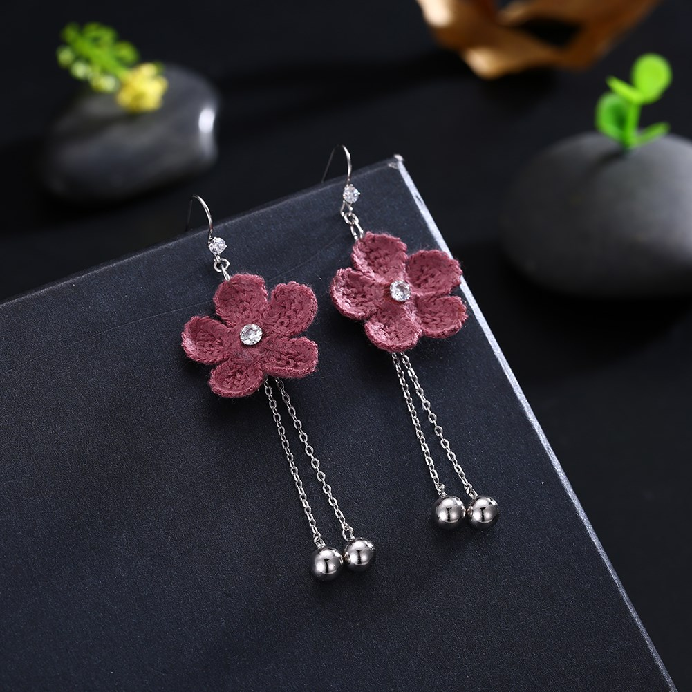 Platinum PlatedDrop Earrings NHKL9964-A