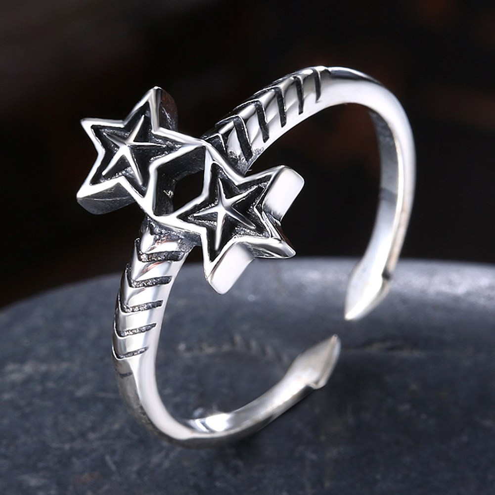 Antique Silver PlatedSterling silver Ring NHKL12958