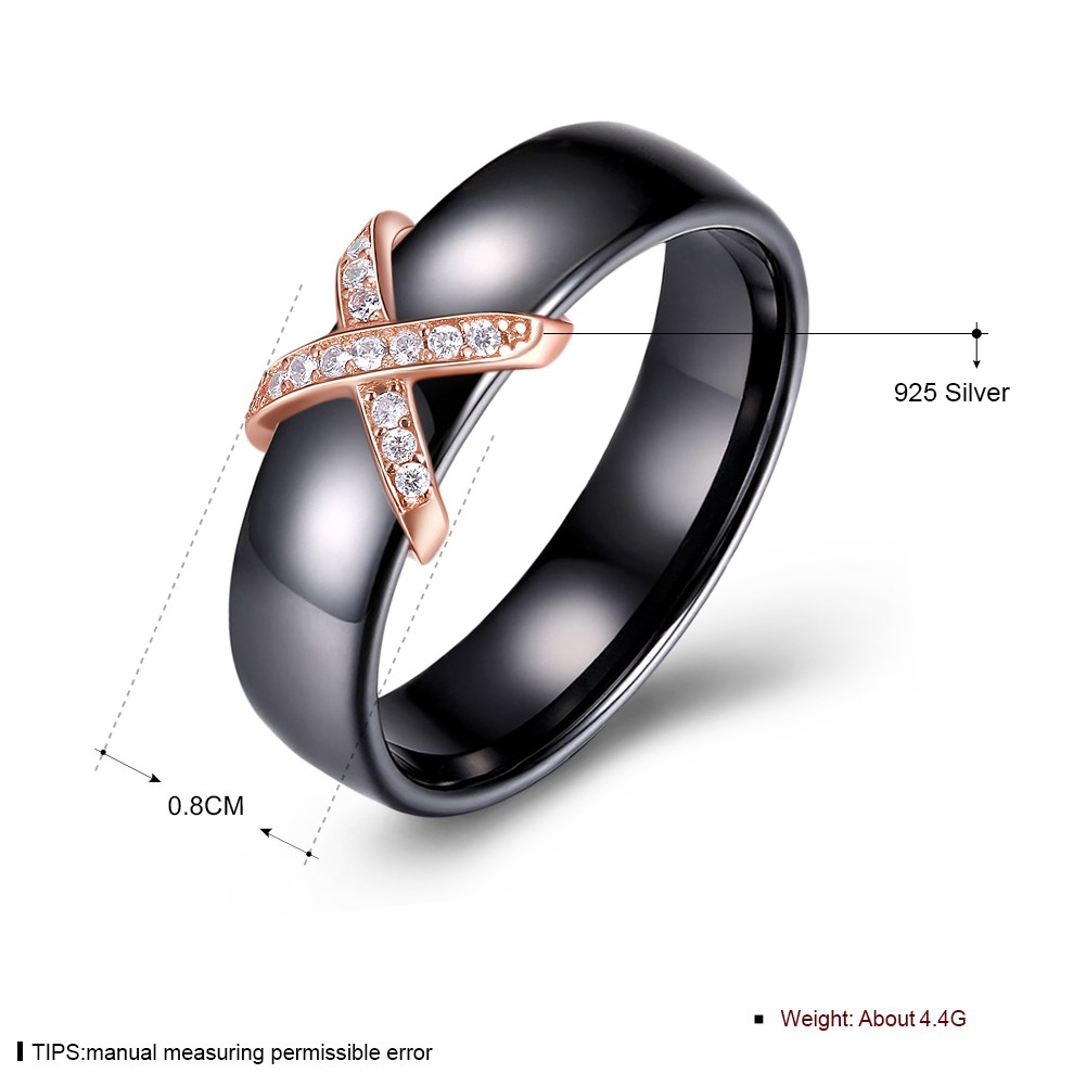 Rose Gold PlatedSterling silver Ring NHKL10001-B-7