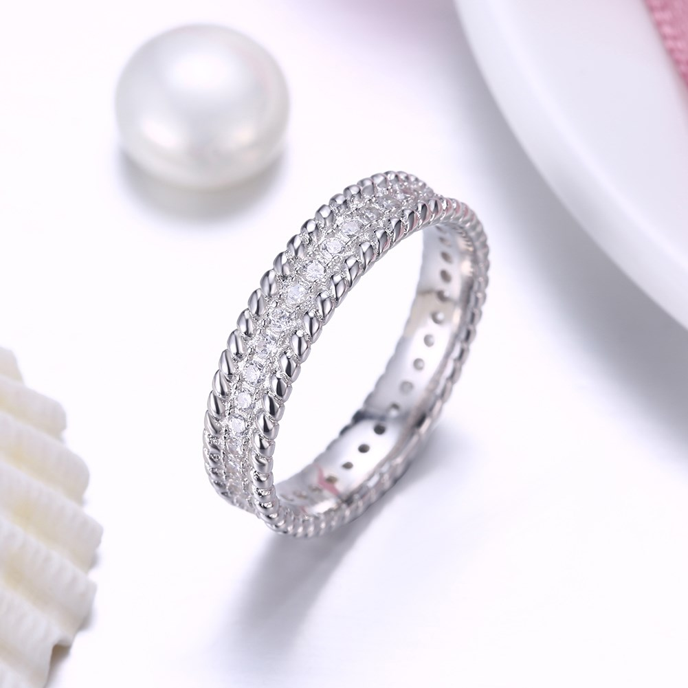 Platinum PlatedSterling silver Ring NHKL9983-6