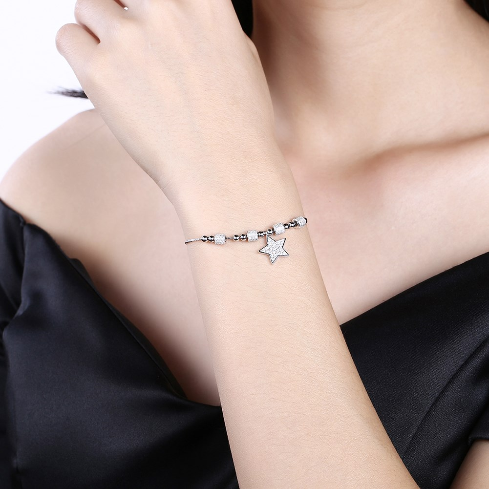 Platinum Plated  Sterling alloy bracelet NHKL10056