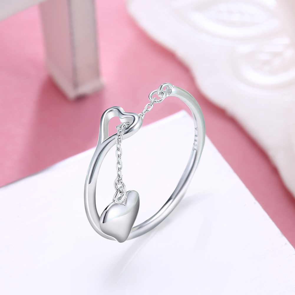 Fashion s925 sterling silver heart pendant ring wholesale  NHKL239960