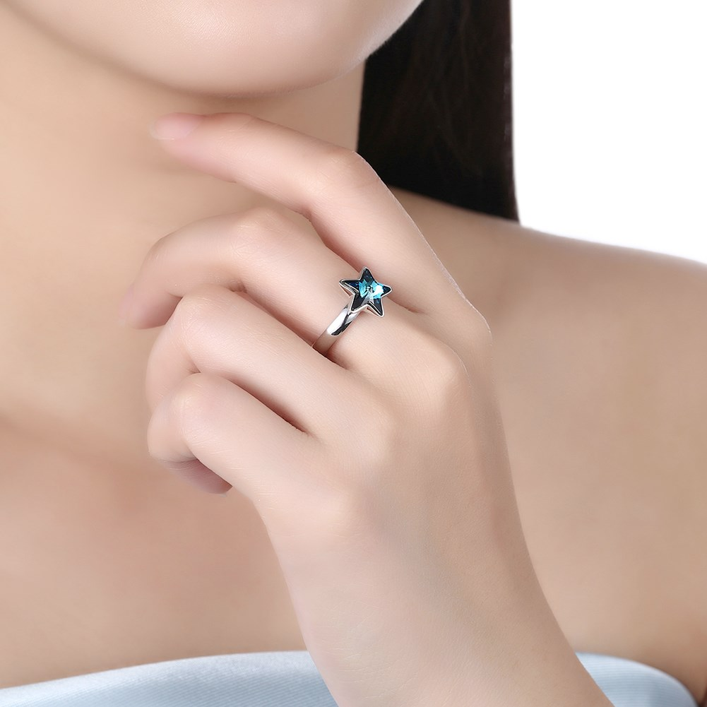 Platinum Plated  Sterling alloy Ring NHKL10024