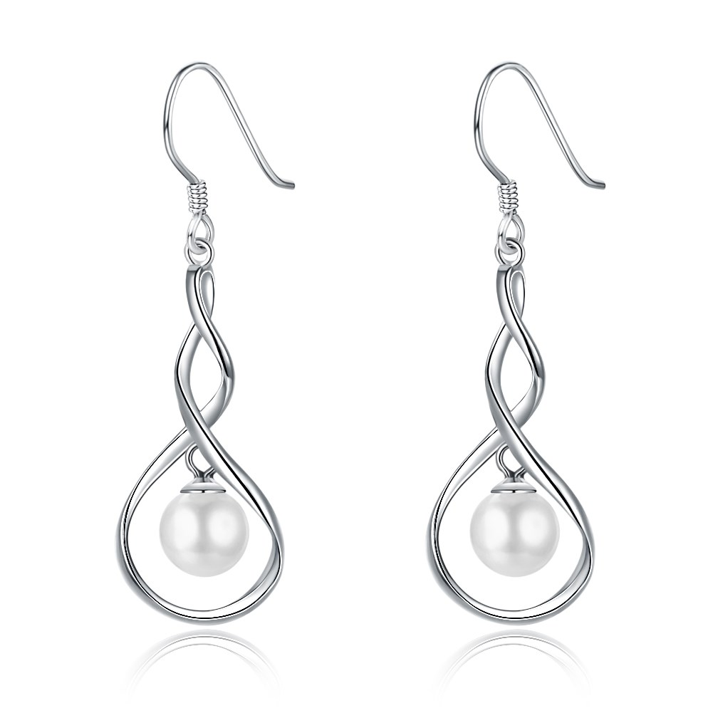 Platinum Plated  Drop Earrings NHKL13121-A