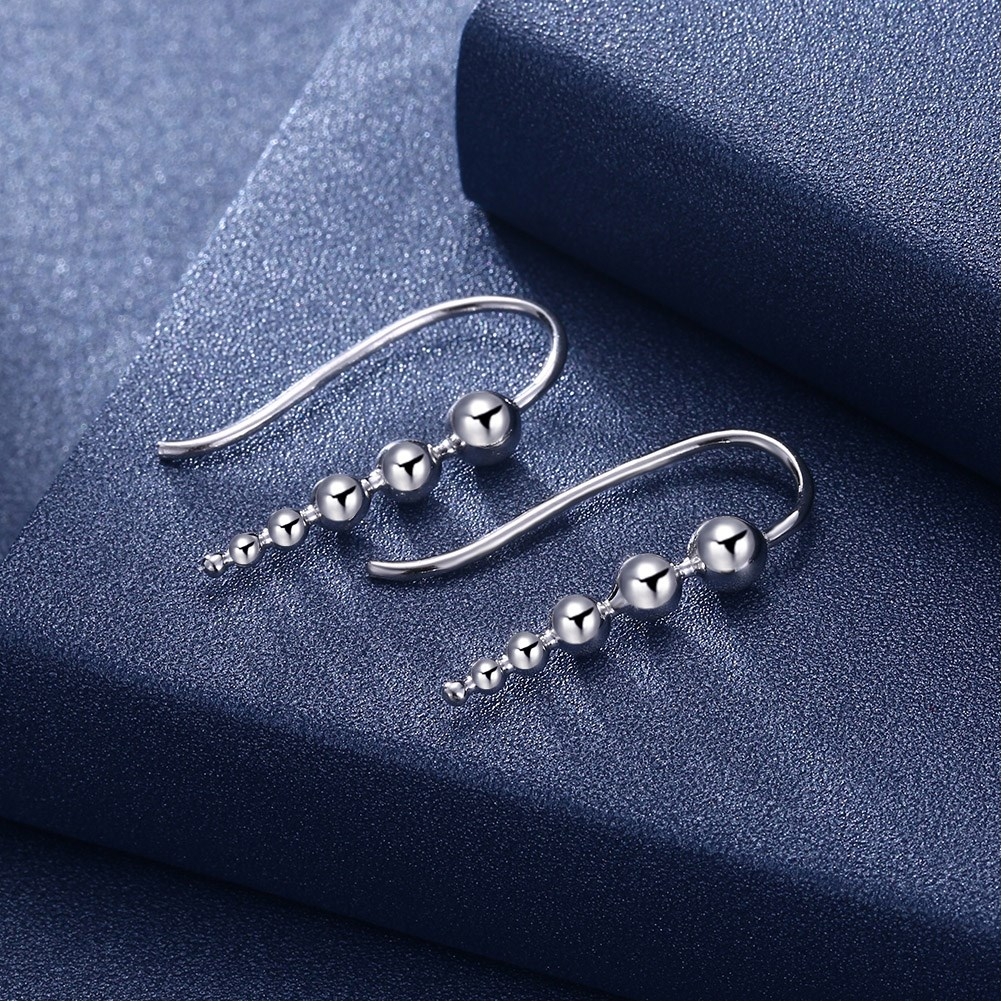 Platinum Plated  Drop Earrings NHKL13122-A