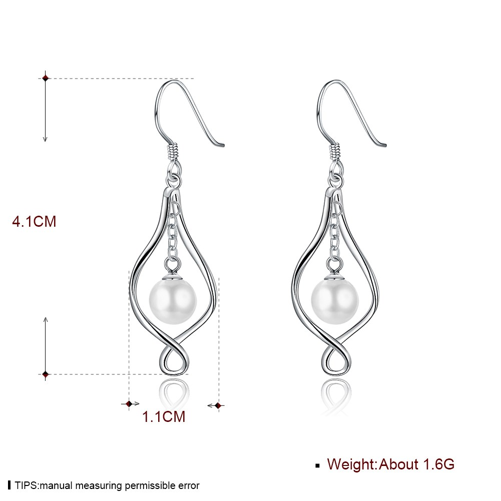 Platinum Plated  Drop Earrings NHKL13120-A