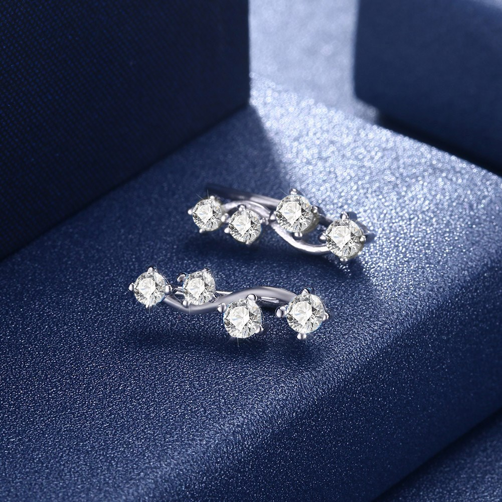 Champagne Alloy  Stud Earrings NHKL13128-A