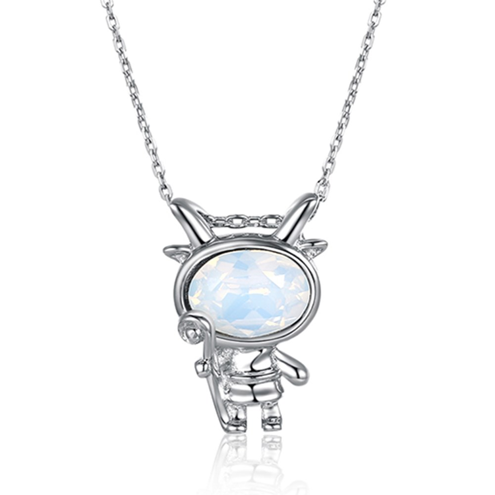 New S925 Sterling Silver Fashion Constellation Pendant Necklace NHKL203802