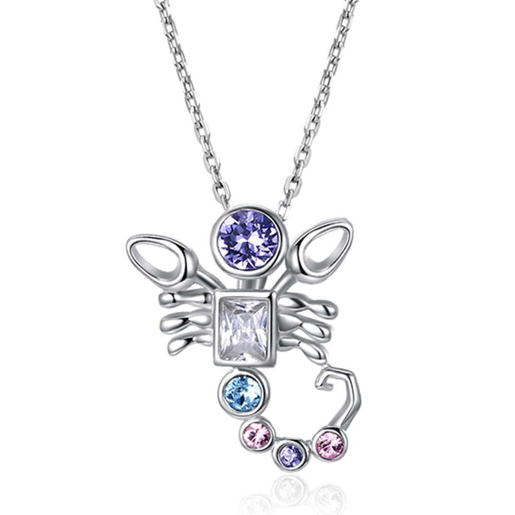 S925 Sterling Silver Fashion Constellation Pendant Necklace NHKL203800