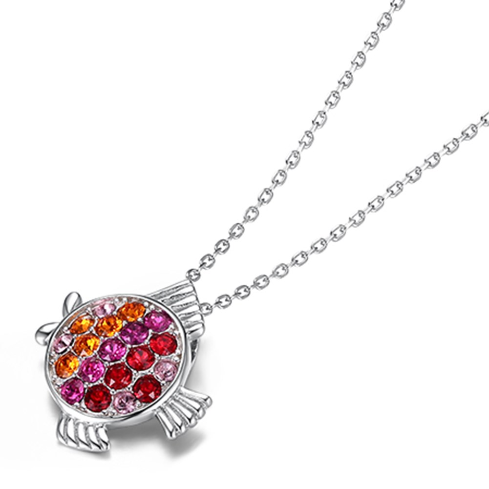 New S925 Sterling Silver Fashion Fish Pendant Necklace NHKL203801