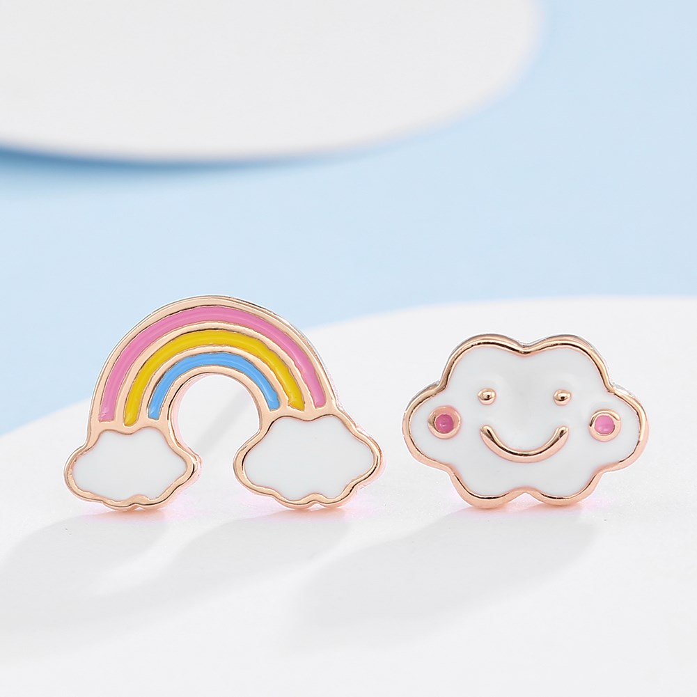 Jewelry Fashion Simple Rainbow Earrings Yiwu Wholesale NHKL205348