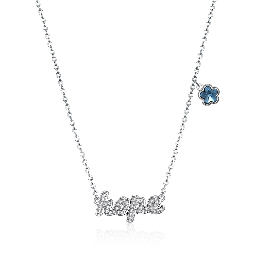 New fashion s925 silver letter hope diamond necklace wholesale NHKL203792