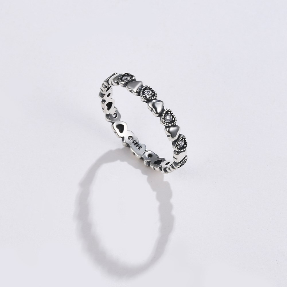 s925 silver ring love stone setting ring NHKL189555