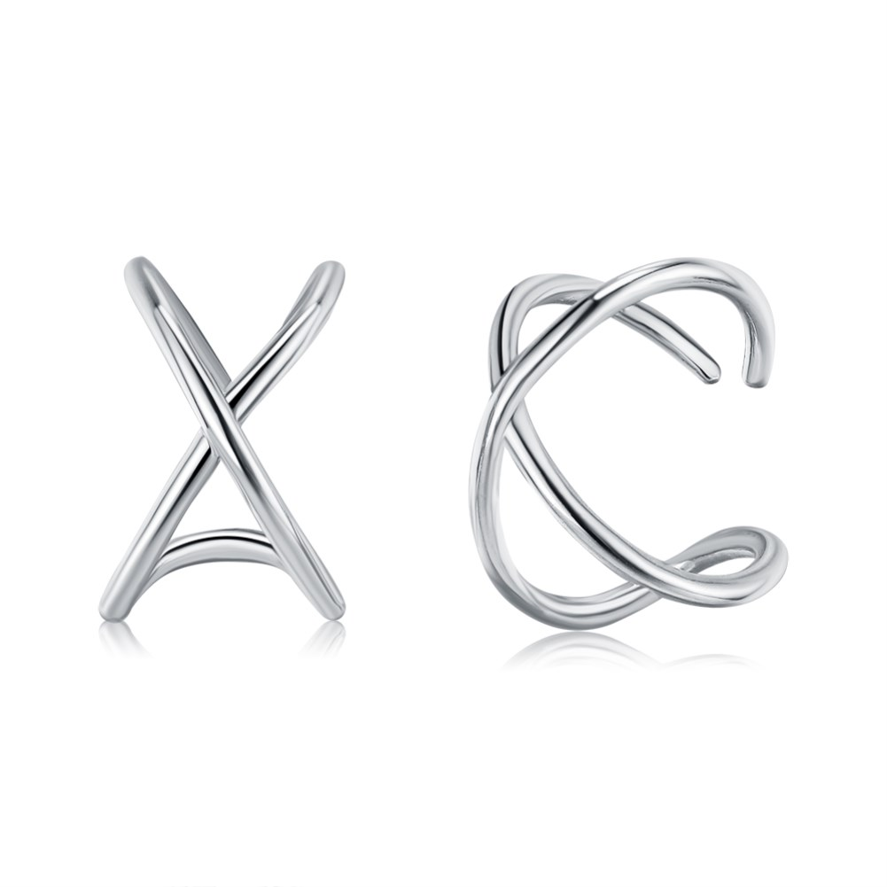 925 sterling silver simple new ear clips NHKL309294