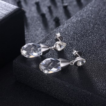 Platinum Plated  Stud Earrings NHKL13328