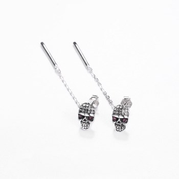 Platinum Plated  Stud Earrings NHKL13426