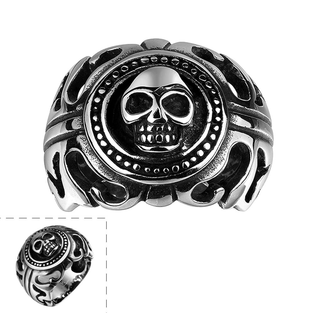 R088 Stylish wholesale various styles 316L stainless steel punk ring