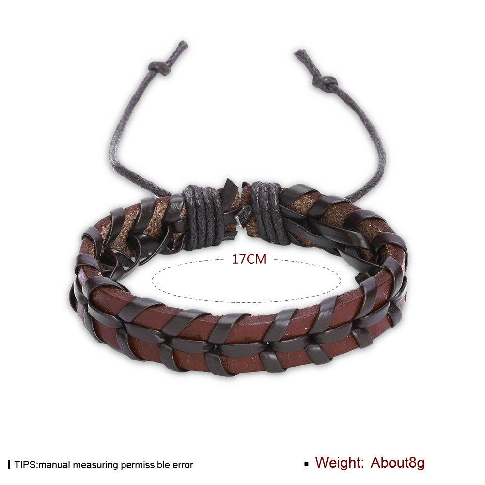 Europe and the United States punk wind retro cowhide bracelet FSH297 NHKL11283-A