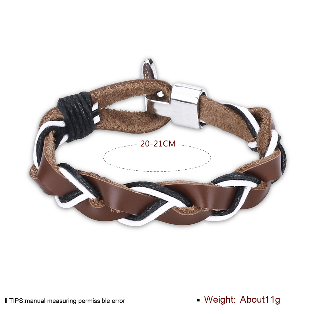 Europe and the United States punk wind retro woven cowhide bracelet FSH309 NHKL11292