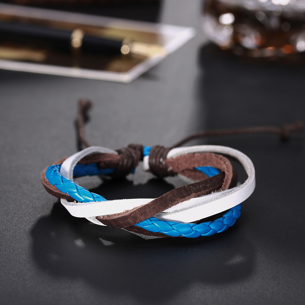Europe and the United States punk wind retro cowhide bracelet FSH294 NHKL11280
