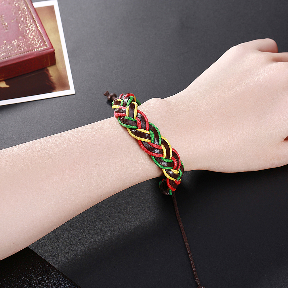 Europe and the United States punk wind retro woven cowhide bracelet FSH304 NHKL11287