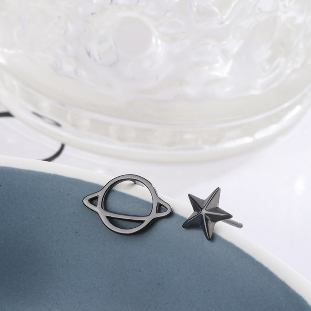 s925 pure silver universe planet earrings NHKL327489