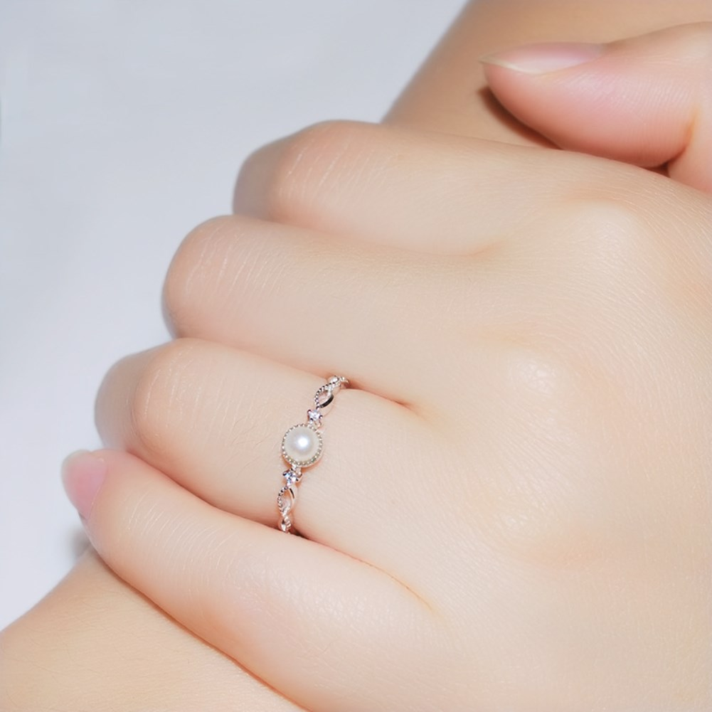 s925 Silver simple cross ring NHKL330972